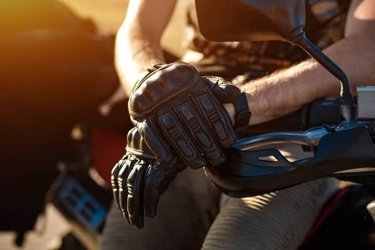 Motorcycle Glove Leather Textile
